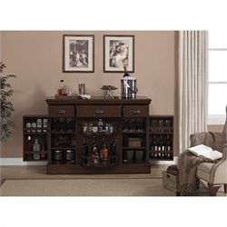 American Heritage Billiards Gabriella Home Bar in Navajo