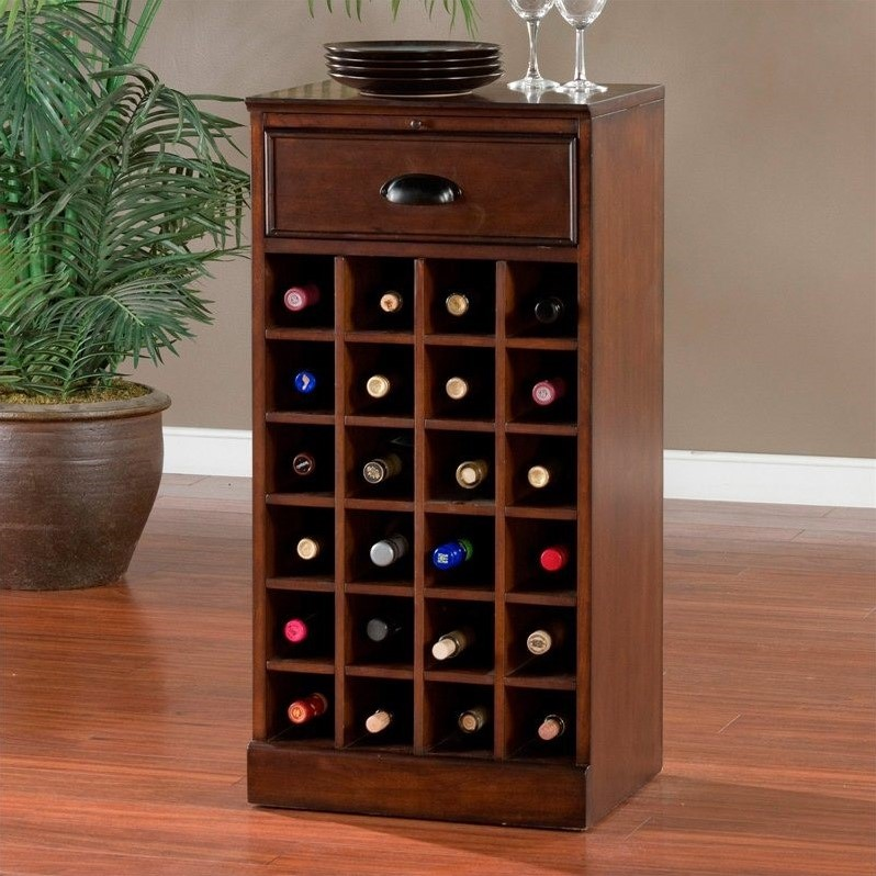American heritage billiards natalia wine cabinet in cherry for Kitchen cabinets 60007