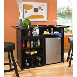 American Heritage Billiards Trenton Home Bar in Black