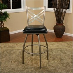 American Heritage Alexander Bar Stool in Silver - 26 Inch
