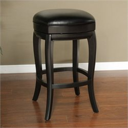 American Heritage Madrid Bar Stool in Black - 26.75 Inch