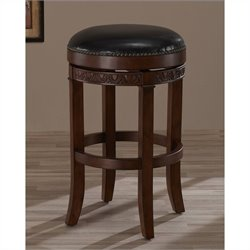 American Heritage Portofino Bar Stool in Suede - 26 Inch