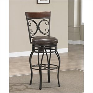 American Heritage Treviso Bar Stool in Pepper