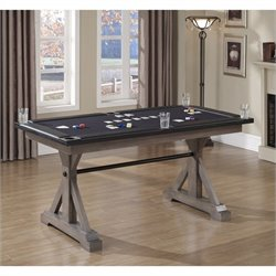 American Heritage Billiards Bandit Poker Table in Weathered Oak