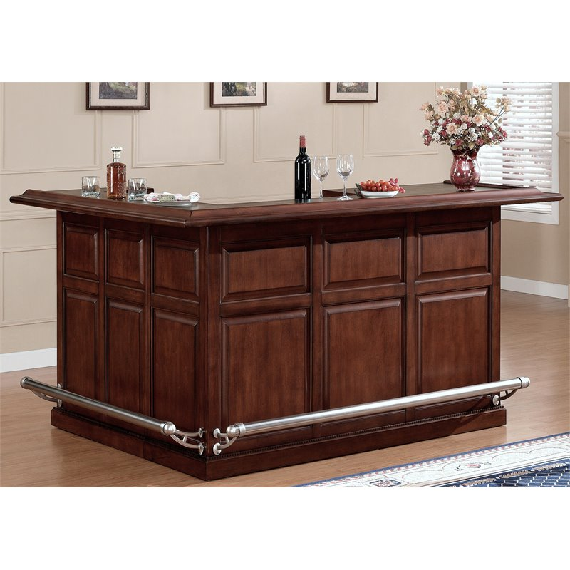 American heritage billiards catania right return home bar in cherry 600005nav s rf Home pub bar furniture