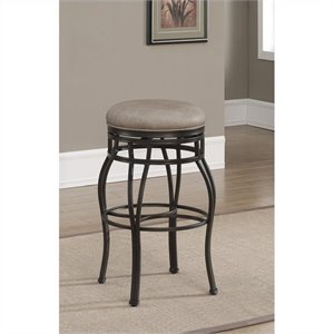 American Heritage Billiards Bella Backless Bar Stool in Aged Sienna and Camel