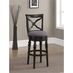 American Heritage Billards Livingston Bar Stool in Antique Black and Smoke