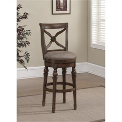 American Heritage Billiards Livingston Bar Stool in Sienna and Camel