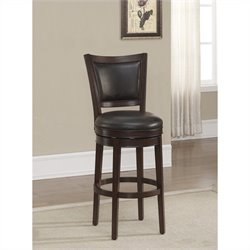 American Heritage Billiards Shae Bar Stool in Navajo and Tobacco