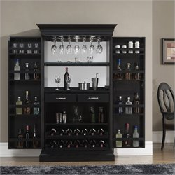 American Heritage Billiards Angelina Home Bar in Black