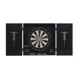American Heritage Billiards Vienna Dart Board Cabinet Set In Black