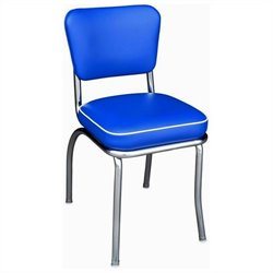 Richardson Seating Retro 1950's Diner  Dining Chair in Royal Blue
