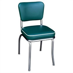 Richardson Seating Retro 1950s Chrome Diner  Dining Chair in Green