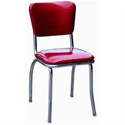 Richardson Seating Retro 1950s Chrome Diner  Dining Chair in Glitter Sparkle Red