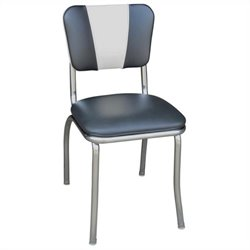 Richardson Seating Retro 1950s Dining Chair in Black and White