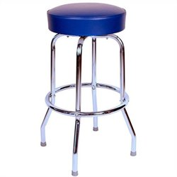 Richardson Seating Retro 1950s Backless Swivel Bar Stool in Blue - 24