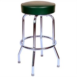 Richardson Seating Retro 1950s Backless Swivel Bar Stool in Green