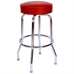 Richardson Seating Retro 1950s Backless Swivel Bar Stool in Wine