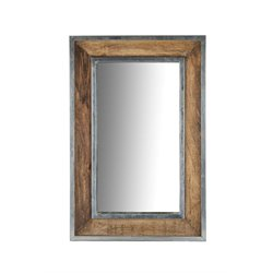 Renwil Lemonade Decorative Mirror in Natural Wood with Metal Accents