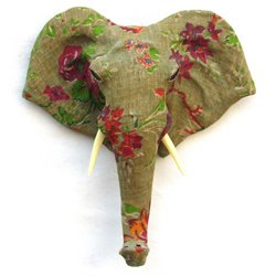 Renwil Wisdom Elephant Wall Sculpture in Floral