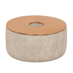 Renwil Snare Candle Holder in Natural and Copper Spray