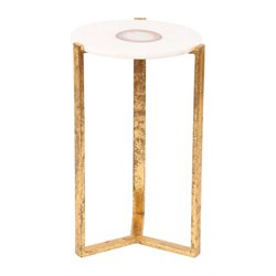 Renwil Beam Accent Table in Gold Leaf