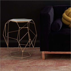 Renwil Veil Accent Table in Gold