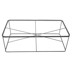 Renwil Blueprint Glass Top Coffee Table in Raw Iron