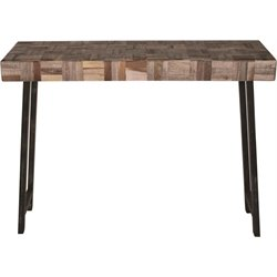 Renwil Everett Console Table in Brown and Black