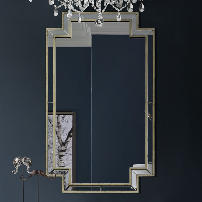 rectangular wall mirrors decorative.htm renwil new traditional raton decorative mirror in antique silver  decorative mirror in antique silver