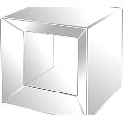 Renwil Open Middle Mirrored Side Table