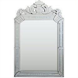 Renwil Mansard Mirror with Etched Pattern Frame