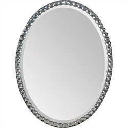 Renwil Rhiannon Mirror in Silver Plated Frame