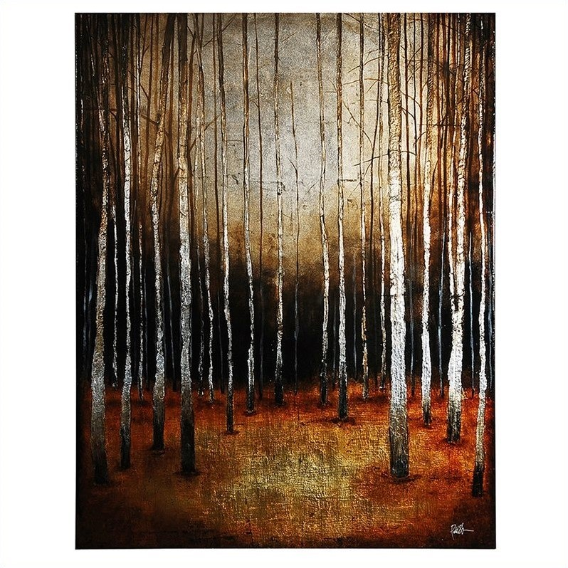 Renwil In the Shadows Frameless Hand Painted Canvas Wall Art
