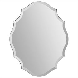 Renwil Emma Mirror in Wave Pattern Frame