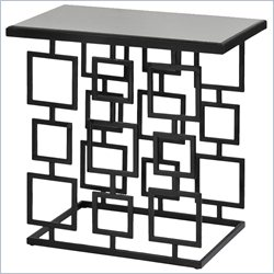 Renwil Atticus Decorative Accent Tables in Glossy Black