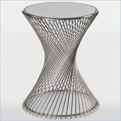 Renwil Jasmin Decorative End Table in Stainless Steel