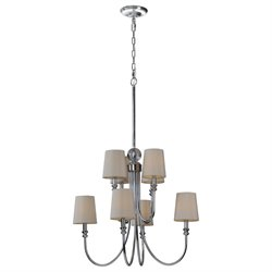 Renwil Laurier Chandelier in Chrome