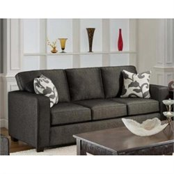 Chelsea Bergen Fabric Sofa in Onyx