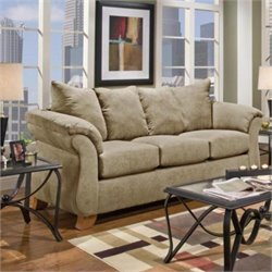 Chelsea Payton Polyester Sofa in Camel