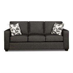 Chelsea Bergen Fabric Queen Innerspring Sleeper Sofa in Onyx