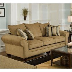 Chelsea Clearlake Polyester Queen Sleeper Sofa in Suede