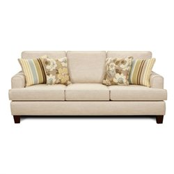 Chelsea Hudson Fabric Queen Innerspring Sleeper Sofa in lvory
