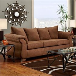 Chelsea Payton Polyester Queen Innerspring Sleeper Sofa in Chocolate