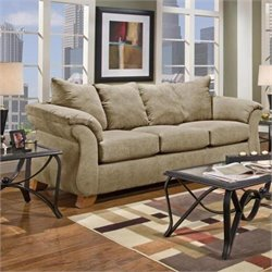 Chelsea Payton Polyester Queen Innerspring Sleeper Sofa in Camel