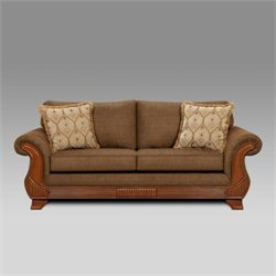 Chelsea Shannen Polyester Queen Sleeper Sofa in Brown
