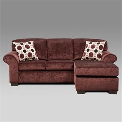 Chelsea Worcester Fabric Sofa in Elderberry