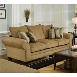 Chelsea Clearlake Polyester Sofa in Suede