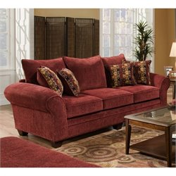 Chelsea Clearlake Polyester Sofa in Burgundy