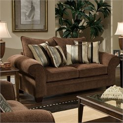Chelsea Clearlake Polyester Loveseat in Chocolate